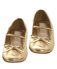 Flickorna Guld balett tofflor - Costume Shoes