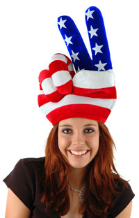 USA Fred Hand Hat - Patriotic Costume Accessories