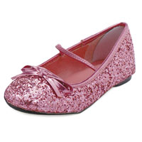 Flickor Rosa glitter balett tofflor - Costume Shoes