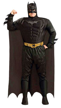 Deluxe Plus Size Batman Dark Knight dräkten - Batman Costumes