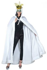 Vit-velour Hooded Cape - Caper och Robes