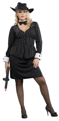 Plus Size underbar gangster kostym - gangster Costumes