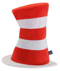 Dr. Seuss Katten i hatten Costume Hat - Katten i hatten Costume Accessories