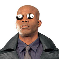 Morpheus Costume solglasögon - Matrix Costume Accessories