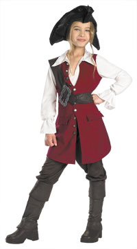 Deluxe flickorna Elizabeth pirat kostym - Pirates of Caribbean Costumes