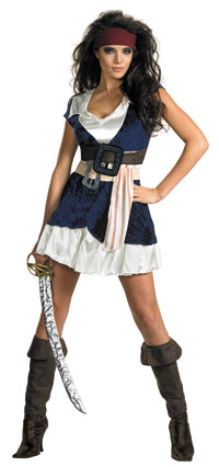 Sassy Jack Sparrow sexiga dräkt - Pirates of Caribbean Costumes