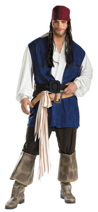 Jack Sparrow Plus Size dräkten - pirater i Karibien Costumes