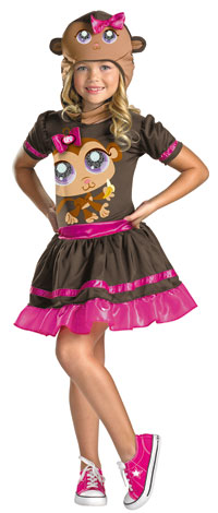 Flickor Littlest Pet Shop apa dräkten - Littlest Pet Shop Costumes