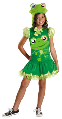 Flickor Littlest Pet Shop groda dräkten - Littlest Pet Shop Costumes