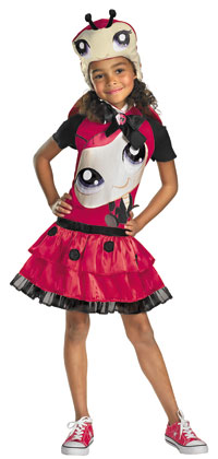 Flickor Littlest Pet Shop Ladybug dräkten - Littlest Pet Shop Costumes