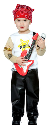 Rock Star toddler dräkten - småbarn Costumes