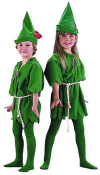 Barn Peter Pan dräkten - ungar Costumes