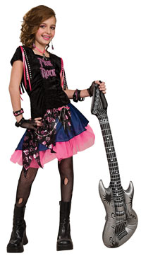 Rosa Rock flickor dräkten - Rock Star Costumes