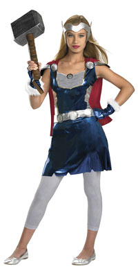 Flickor Thordräkt - Thor Costumes
