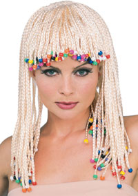 Cornrow blond peruk - Mardi Gras Costumes