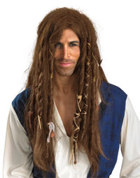Deluxe Jack Sparrow peruk - piraten Costumes