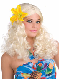 Blond peruk Hawaii - Costume Wigs